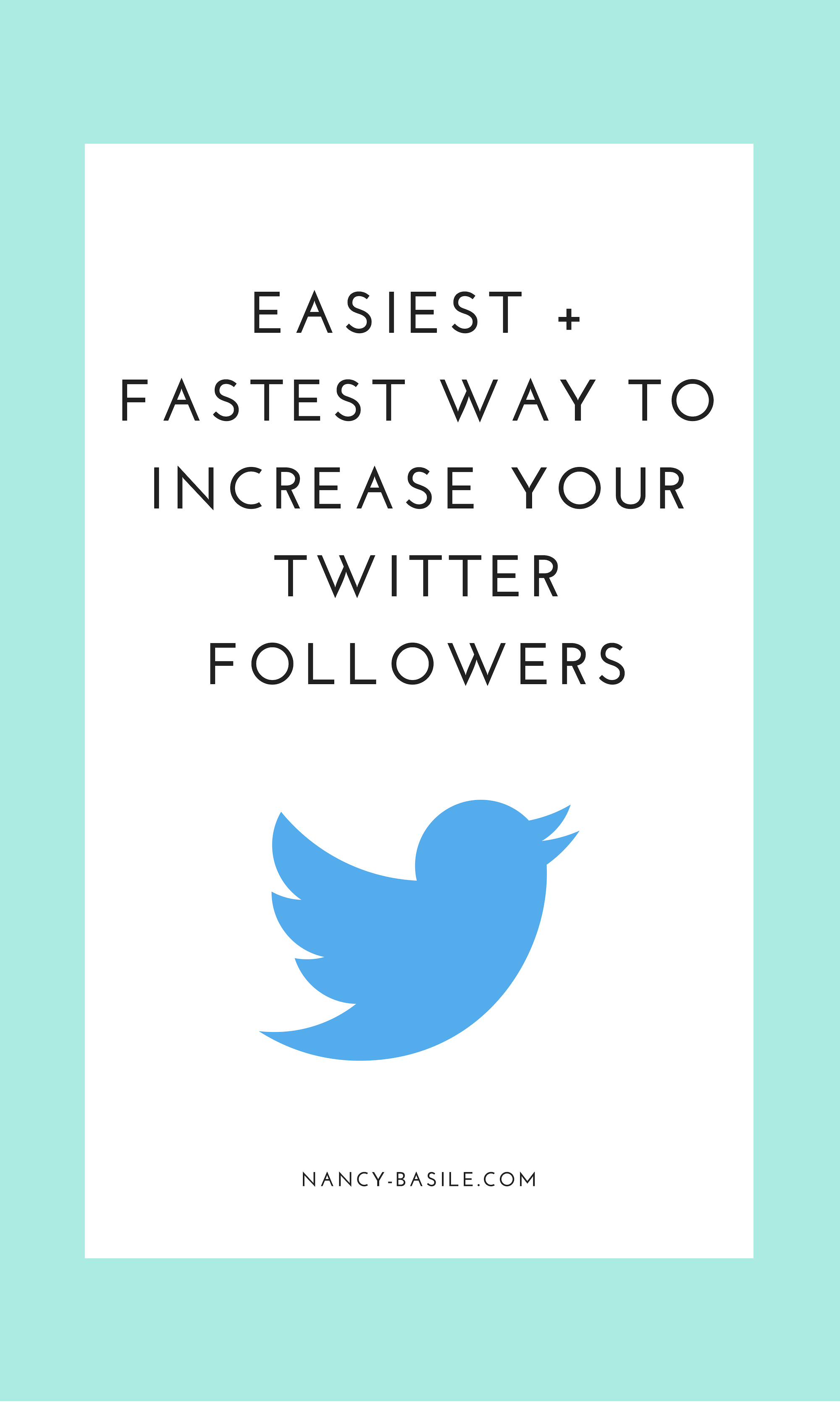 Easiest + Fastest Way to Increase Your Twitter Followers